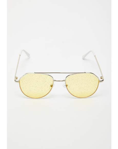 Sunny Fifth Dimension Aviator Sunglasses