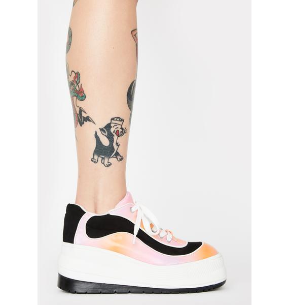 dELiA*s by Dolls Kill Wipe Out Tie Dye Sneakers