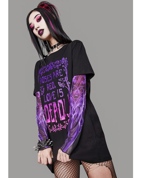 Problematic Poetry Layered Graphic Tee
