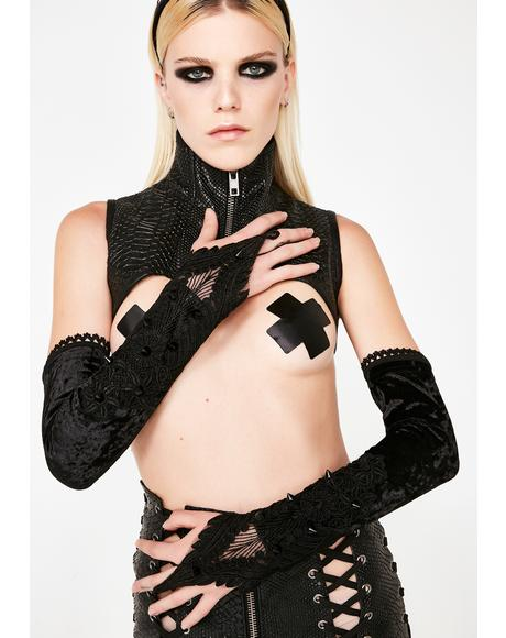 Gothic Rivet Long Gloves