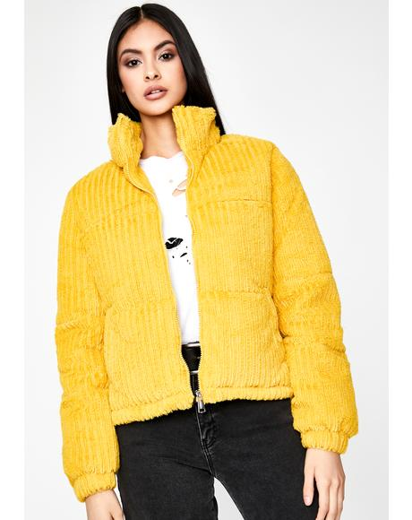 Honey Doom N' Gloom Corduroy Puffer Jacket