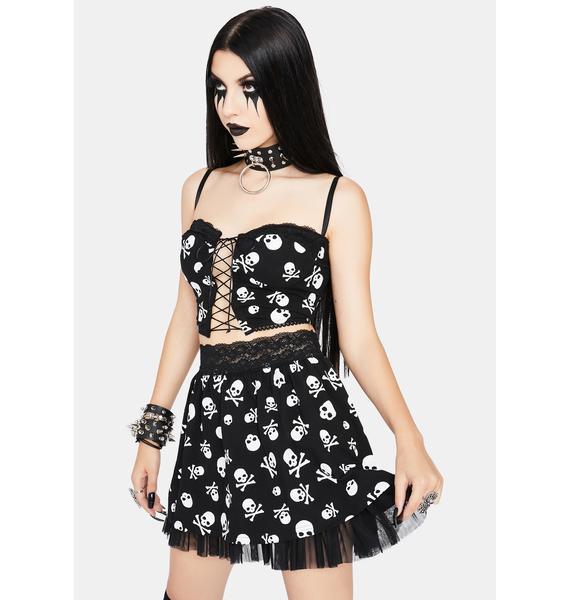Dolls Kill Mistress Of Macabre Mini Skirt