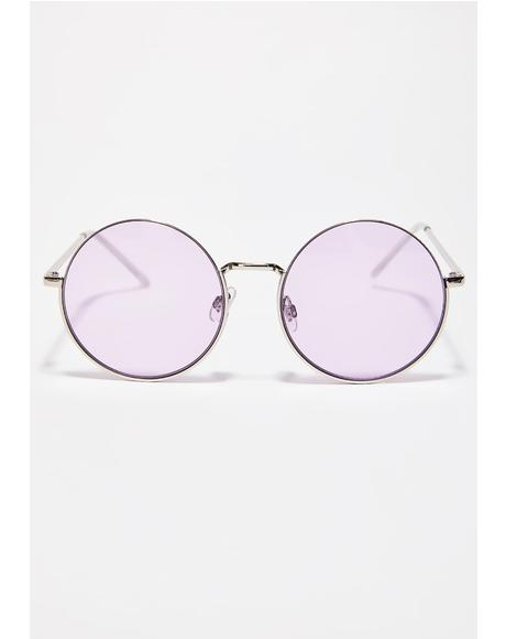 Vino Feeling Closer Round Sunglasses