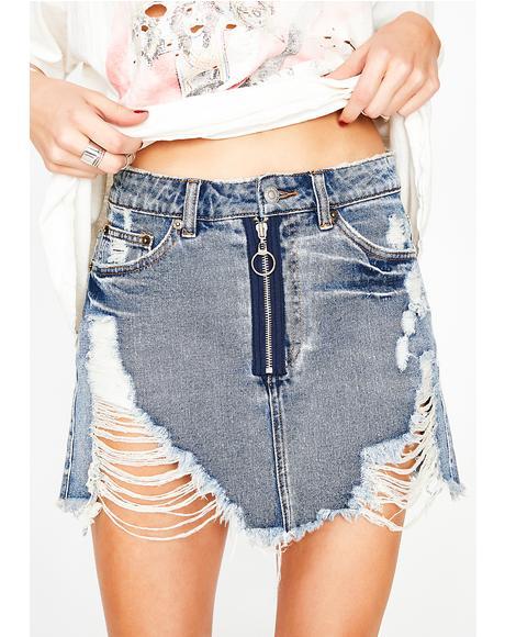 Hung Up Denim Skirt