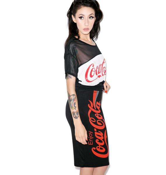 Coca Cola Logo Midi Skirt