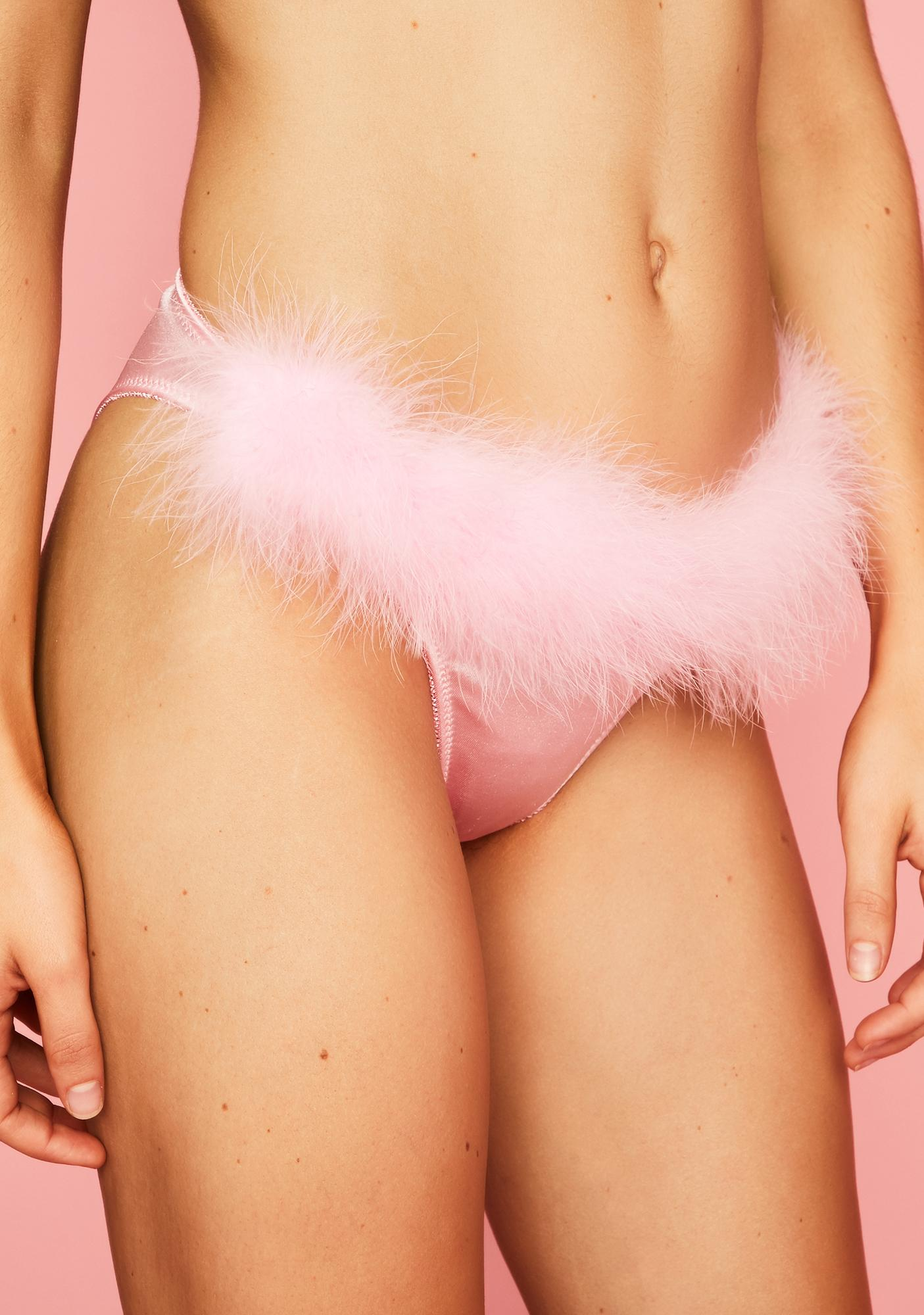 Sugar Thrillz But First Dessert Marabou Panties