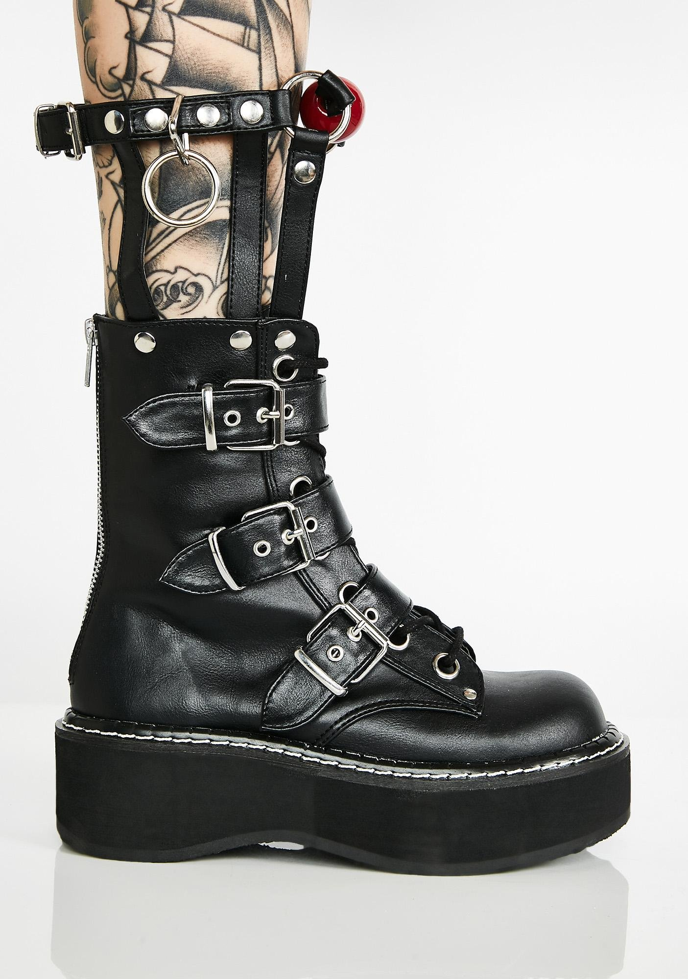 Demonia Gag Me Caged Boots