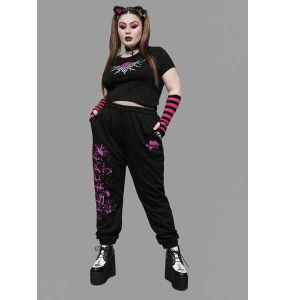Widow Total Psycho Kitty Graphic Sweatpants