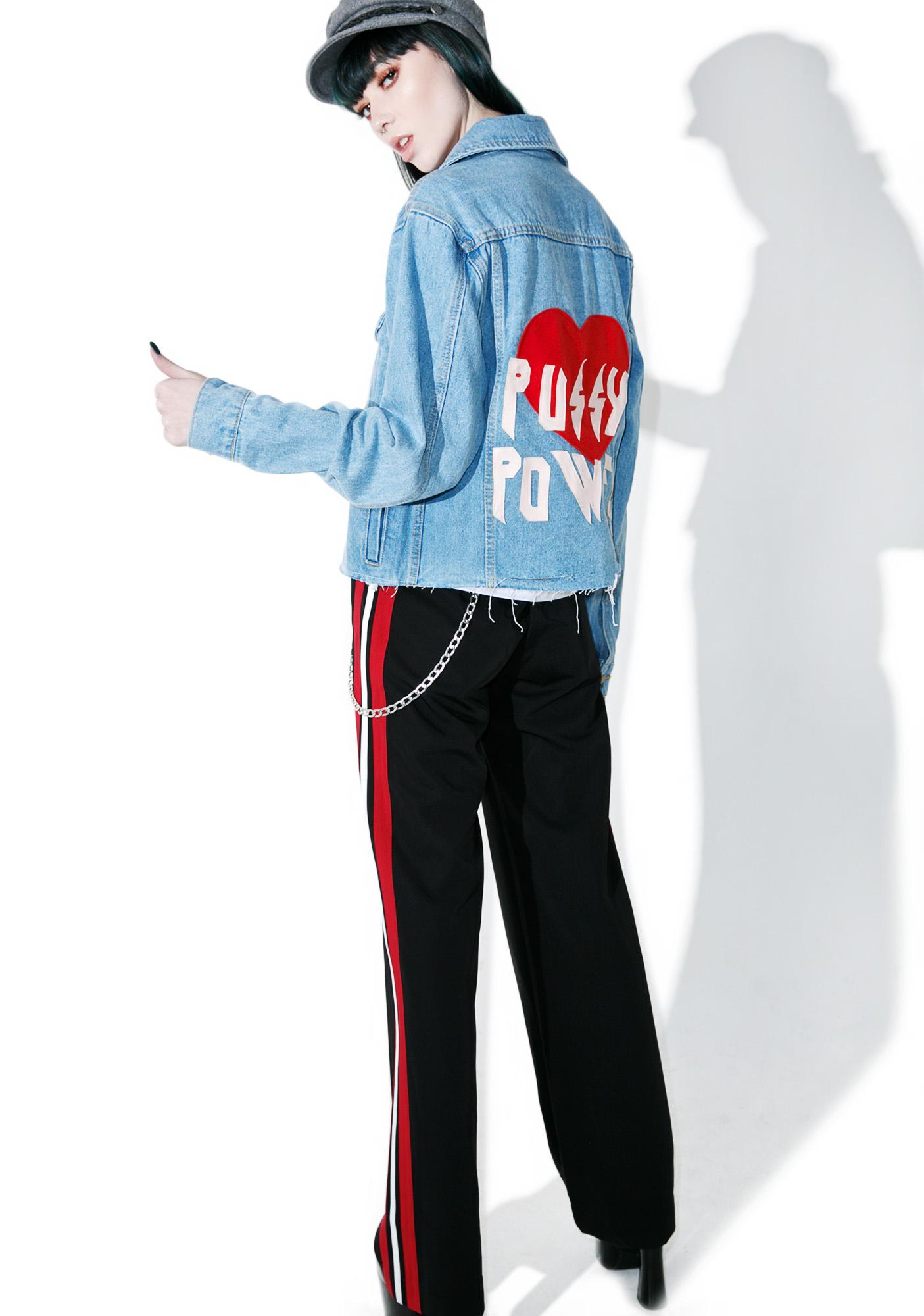 High Heels Suicide Pussy Power Denim Jacket