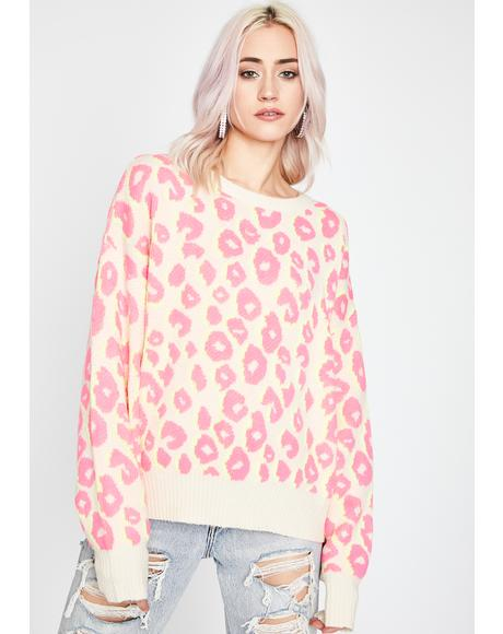 Feral Delight Leopard Sweater
