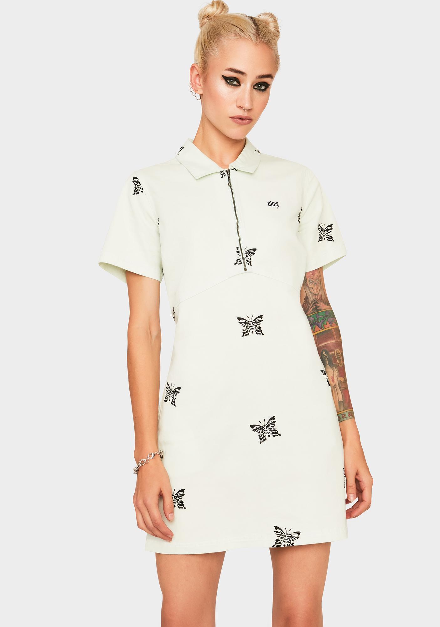 Obey Butterfly Mini Dress