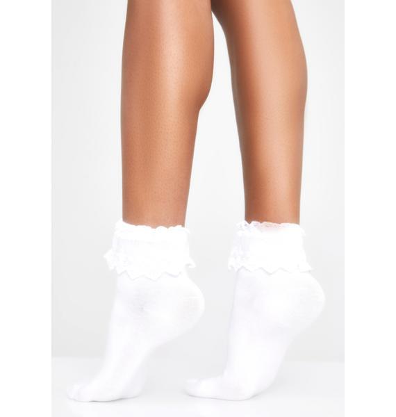 Boo Spoiled Rotten Ruffle Socks