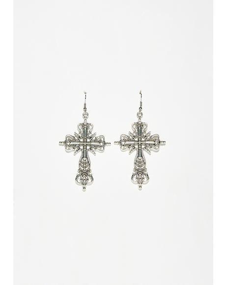 Higher Power Cross Earrings