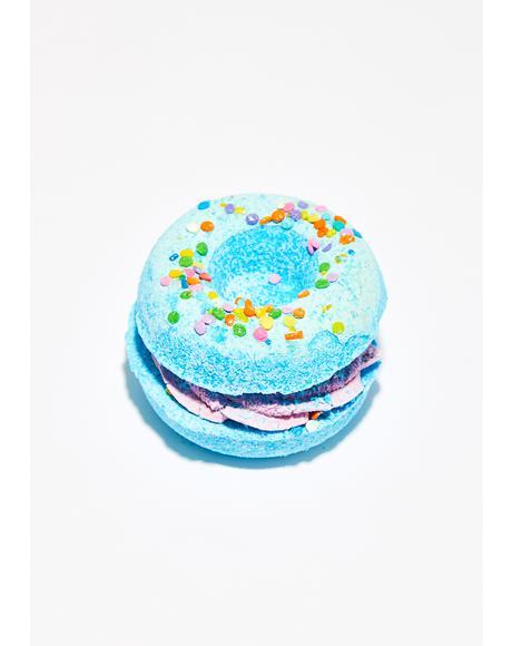 Blueberry Muffin Donut Sandwich Bath Bomb