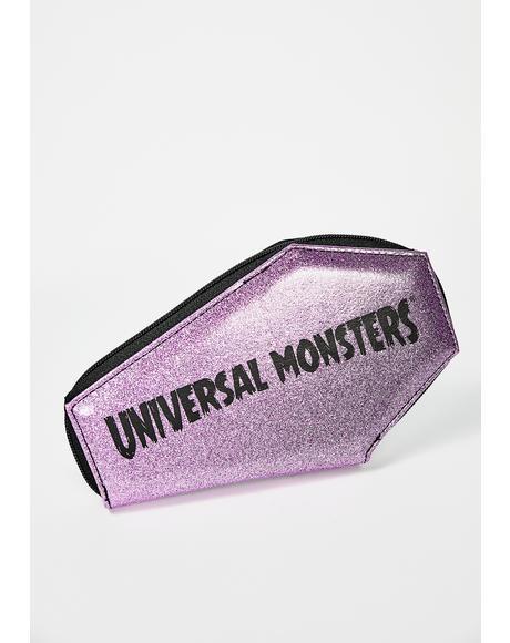 Monster Collage Glitter Coffin Wallet