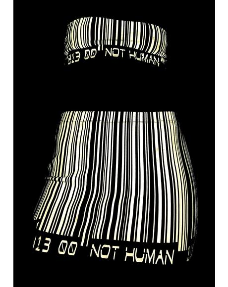 Scan Me Up Reflective Skirt