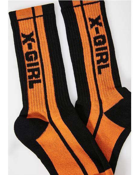 Midnight Pit Crew Socks