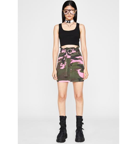 Pretty Chic Patrol Camo Skirt