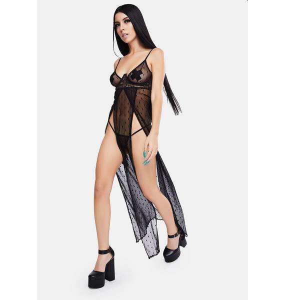 No Sleep Mesh Nightgown Set