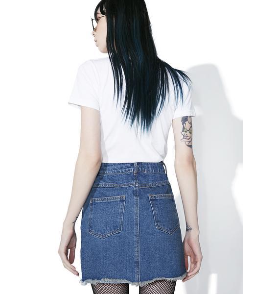 Spittin' Fire Denim Skirt