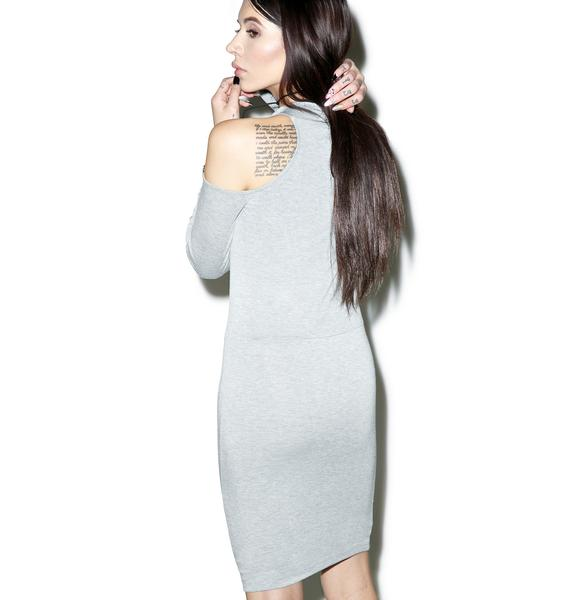 BLQ BASIQ Cold Shoulder Mini Dress