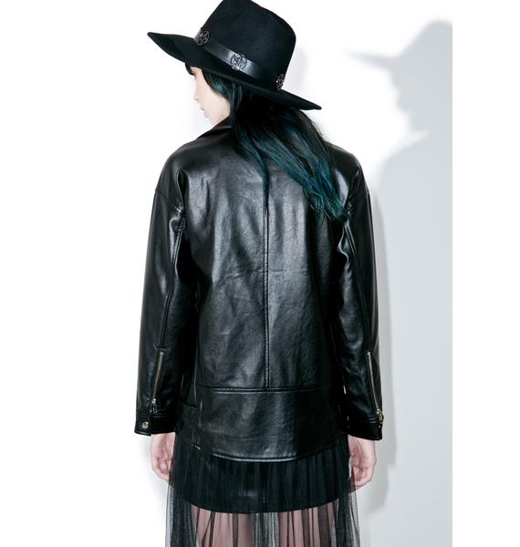 one spo Tulle Moto Jacket