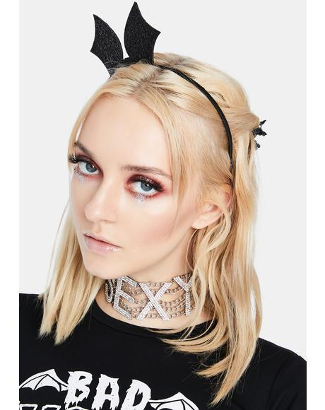 Glam Batwing Bow Headband