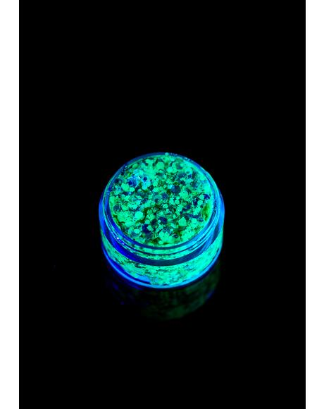 Radioactive UV Unicorn Glitter Gel