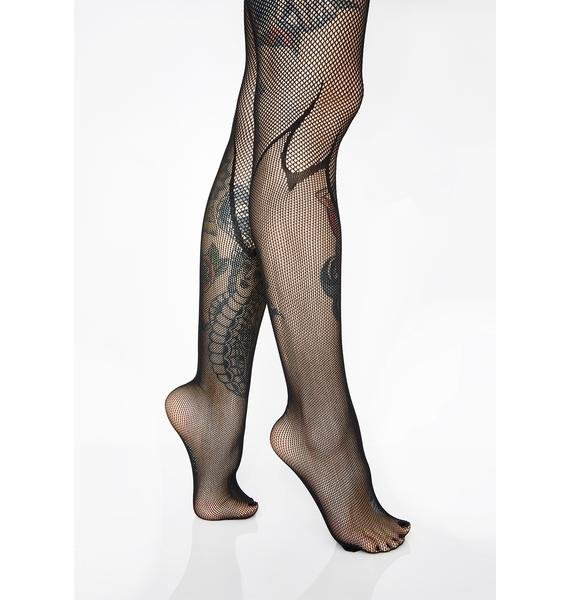 Sheer Desire Flame Tights