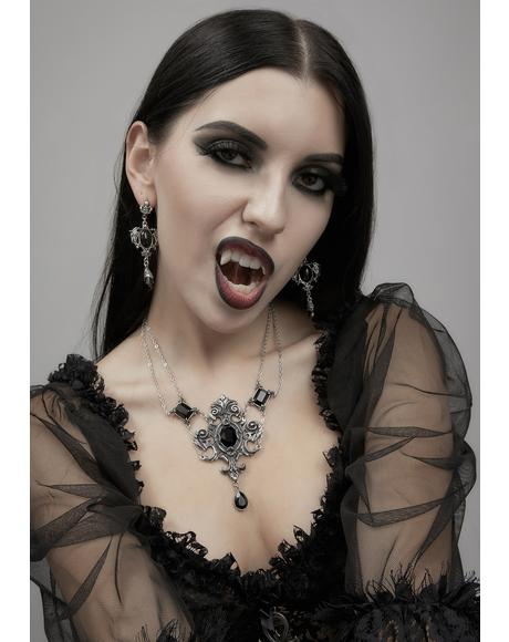 Seraph Of Darkness Drop Earrings