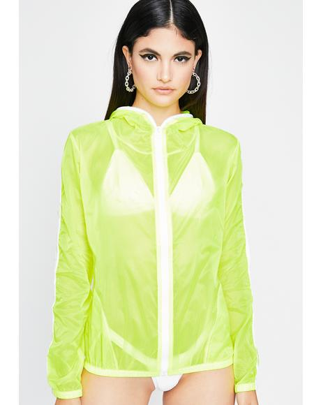 Sour Streets Are Talking Neon Windbreaker
