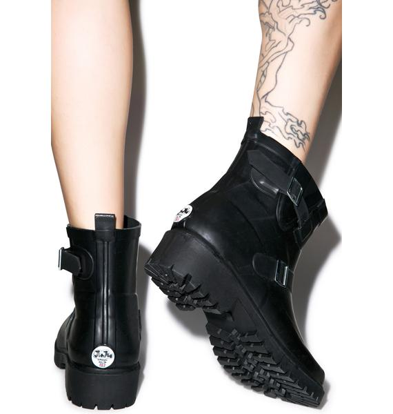 Juju Shoes Jelly Buckled Boots
