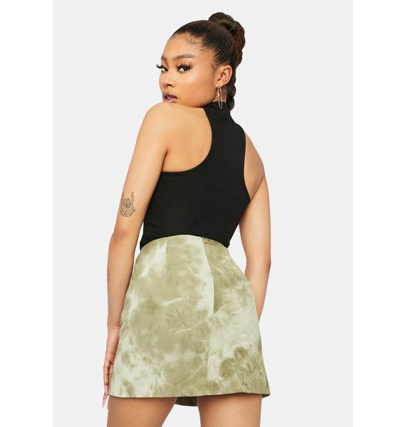Prove Urself Tie Dye Mini Skirt
