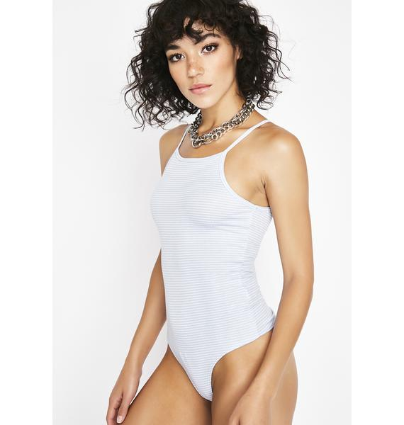 Icy Obscene Qween Striped Bodysuit