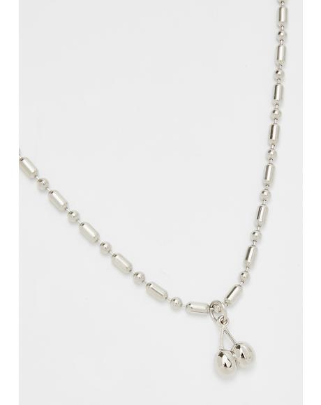 Cherry Bomb Brigade Chain Necklace