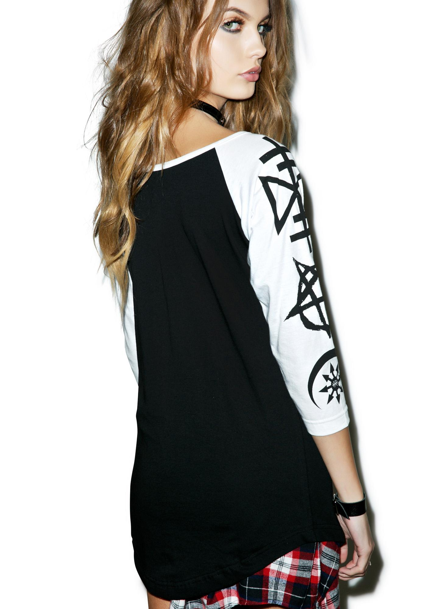 Disturbia Necronomicon Raglan