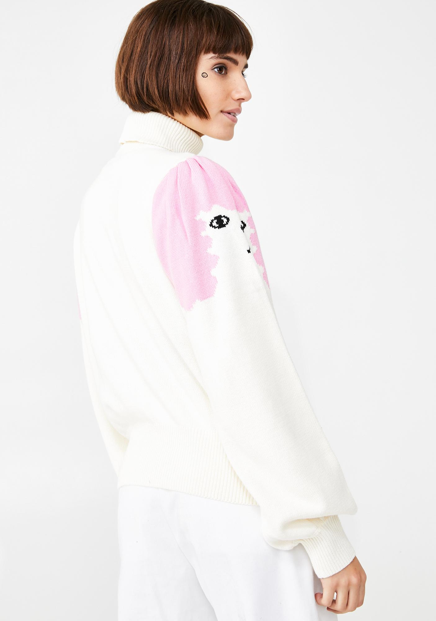 Lazy Oaf Poodle Puff Sleeve Knitted Jumper