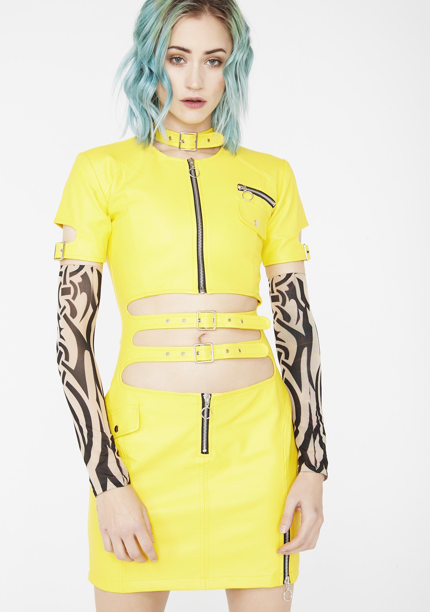 Strange Couture Faster Pussycat Vegan Leather Dress