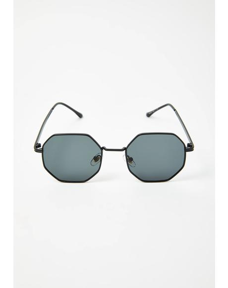 Bad Flashy Girl Octagon Sunglasses