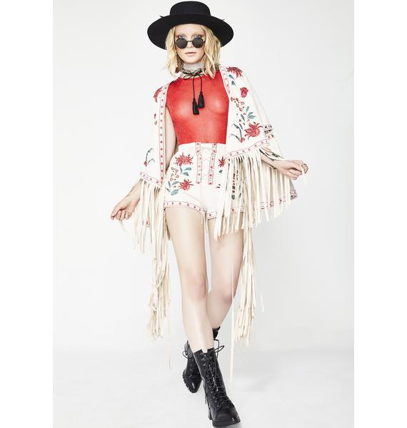 Glamorous Desert Bloom Embroidered Shorts