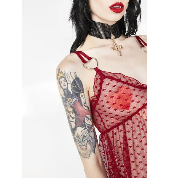 Sugar Thrillz Lover Heartthrob Slip Dress