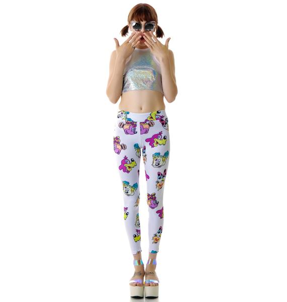Coveted Society Worped On Acid Scuba Leggings