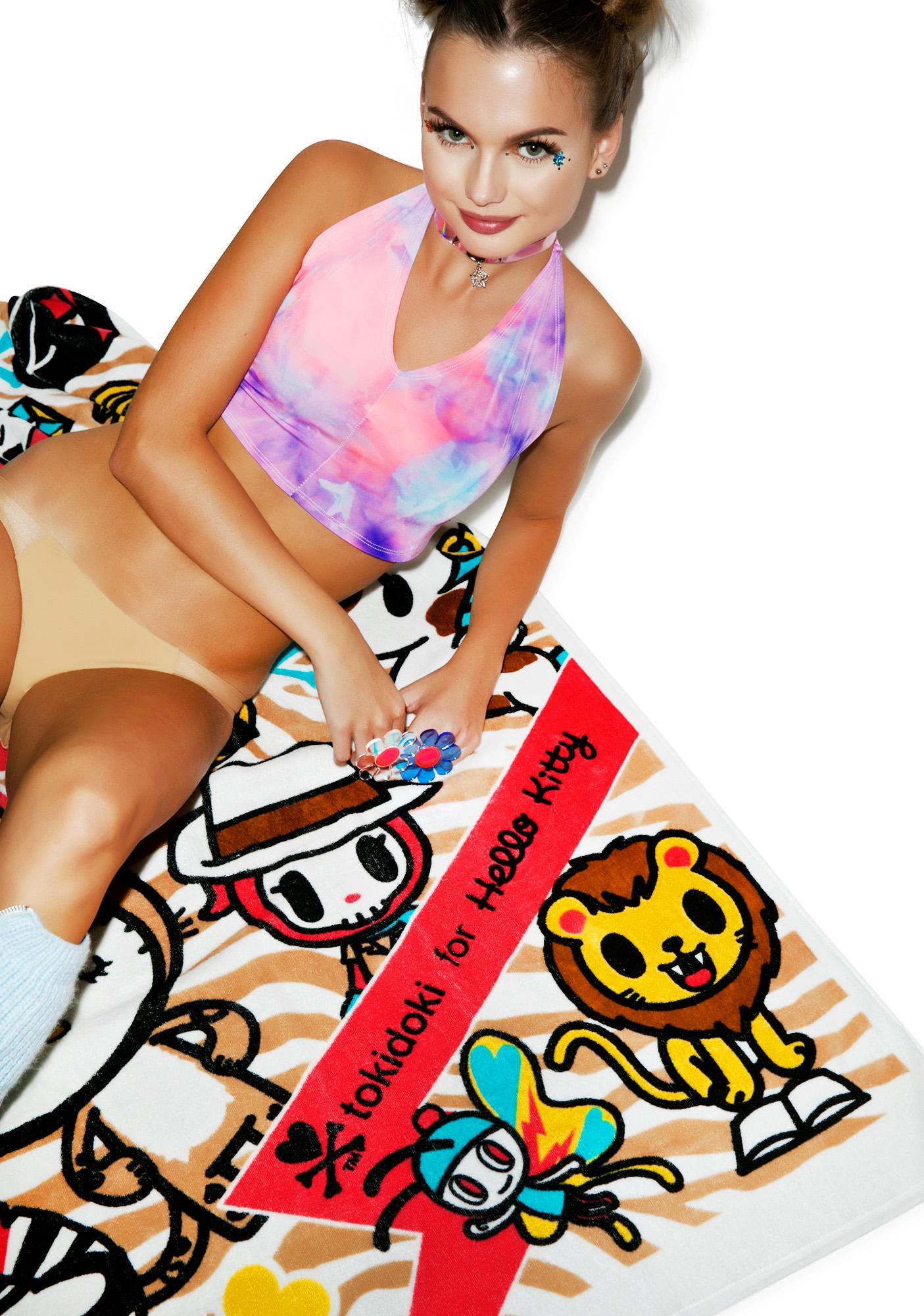 Sanrio Tokidoki X Hello Kitty Summer Safari Beach Towel