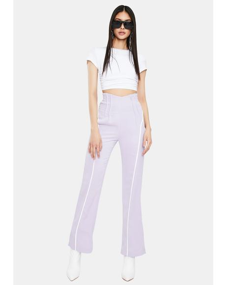 Lavender Polly High Waist Pants