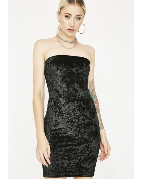 Crushed Heartz Velvet Dress