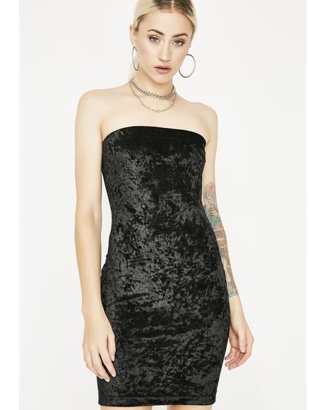Crushed Heartz Velvet Dress