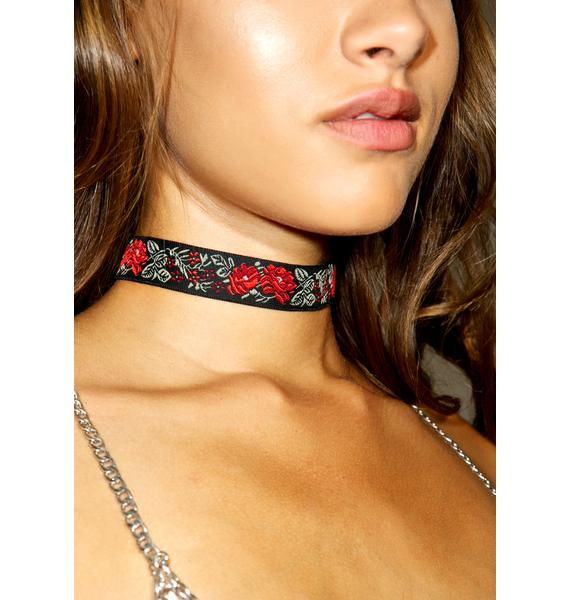 Vanessa Mooney Rose Ribbon Choker
