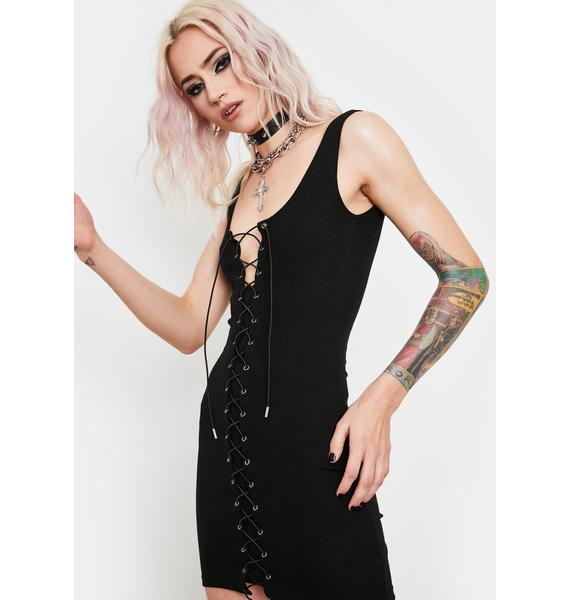 Current Mood Brutal Ballad Lace-Up Dress