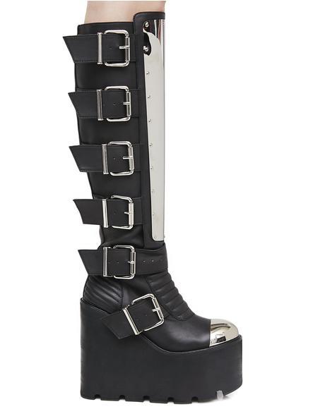 Moto Mama Platform Boots