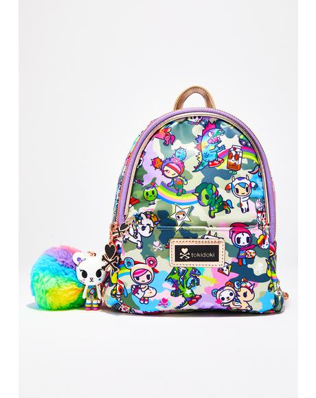 Camo Kawaii Small Backpack